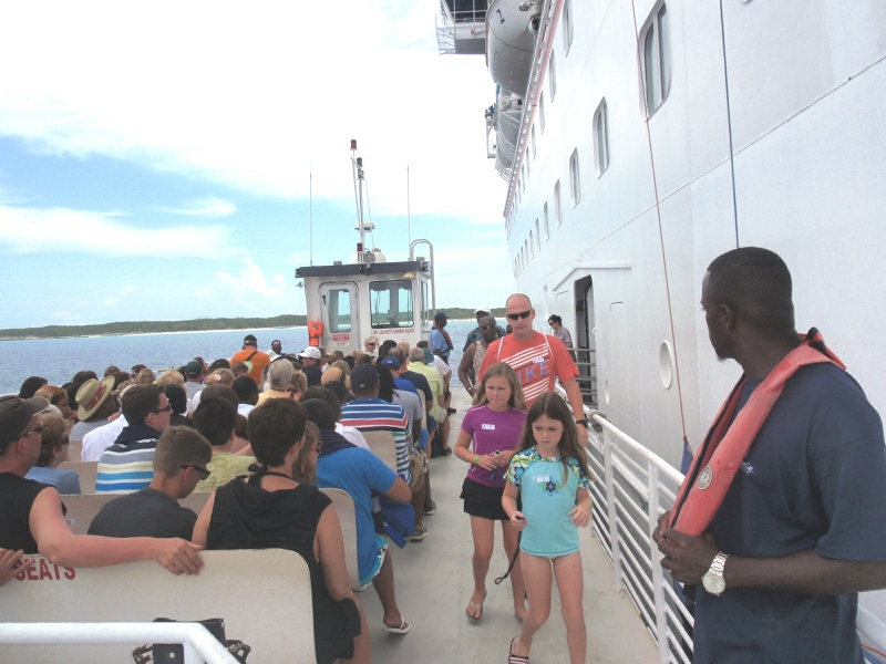 Transferring to Halfmoon Cay